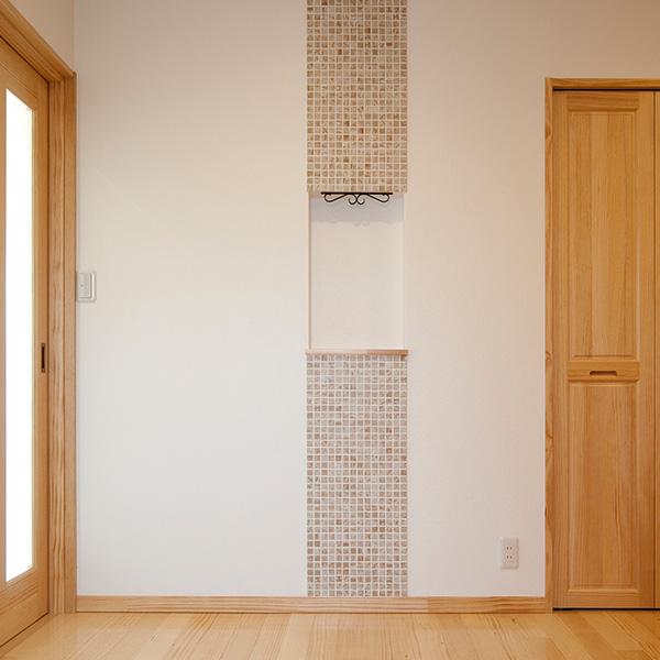 インテリアを飾れるおしゃれなスペースを設置しました。こういった細かいところにもこだわりがあります。