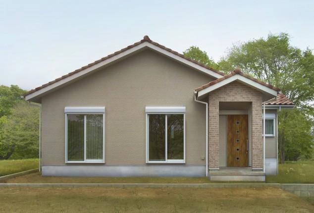 シンプルな平屋の家